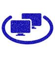 intranet computers icon grunge watermark vector image vector image