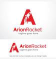 letter a rocket logo template design emblem vector image