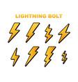 lightning bolt thunder bolt lighting strike vector image vector image