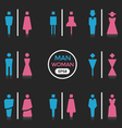 Man and Woman sign vector image vector image