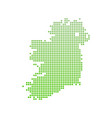 map of ireland - icon in green modern style vector image vector image