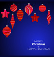 new year dark blue background vector image vector image