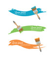 paint brush with paint color in flat style vector image vector image