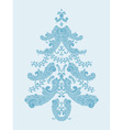 paisley christmas tree vector image