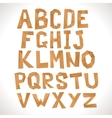 Paper alphabet Polygonal letters vector image vector image
