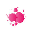 pink watercolor paint drops vector image