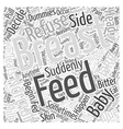 Refusal To Breast Feed Word Cloud Concept vector image vector image
