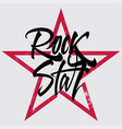 rock star print for t-shirt banner billboard vector image vector image