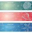 seashell card7 vector image vector image
