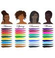 seasonal color analysis black women vector image vector image
