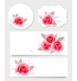 set gift cards and banners with beautiful vector image vector image