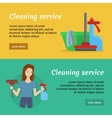 Set of Cleaning Service Banners vector image vector image