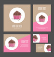 set of corporate branding cake in packing vector image vector image