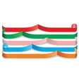 Set of different paper ribbons vector image vector image