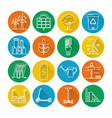 set of energy and ecology line icons with long vector image vector image