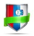 Shield with flag Slovenia and ribbon vector image vector image