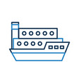 ship cargo isolated icon vector image vector image