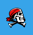 skull and crossbones jolly roger pirate vector image
