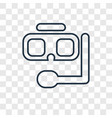 snorkel concept linear icon isolated on vector image