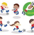 Soccerteam 02 vector image vector image