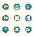 speculate money icons set flat style vector image