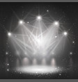 spotlight on stage for your design grayscale vector image vector image