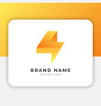 thunder bolt logo design inspiration vector image