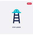 two color step ladder icon from industry concept vector image