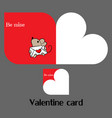 valentine card with mouse vector image vector image