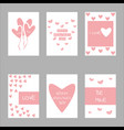 valentine day concept design set collection vector image