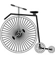 Vintage bike type 3 in black and white vector image