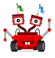 with cute cartoon redrobot vector image