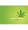 Marijuana startup conceptual vector image