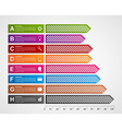 Modern business charts and graphs options banner vector image
