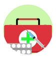 health care app icon vector image