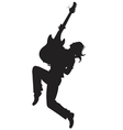 rock star Silhouette - vector image