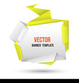 Abstract modern origami speech bubble set vector image