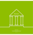 Bank building with columns vector image