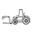 front loader agriculture vehicle concept vector image