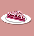 a piece of cake on valentine s day vector image vector image