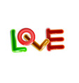abstract inscription glossy love multicolor vector image vector image