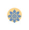 atom nuclear molecule chemistry science glyph icon vector image