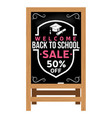 back to school design wooden announcement board vector image vector image