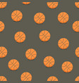 basketball balls seamless background vector image
