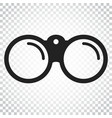 binocular icon binoculars explore flat simple vector image