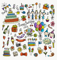 birthday party icons for your design vector image