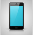 black mobile phone with blue screen vector image vector image