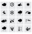 black weather icons set vector image vector image