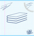 books line sketch icon isolated on white vector image vector image
