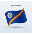 Bophuthatswana flag waving form vector image vector image